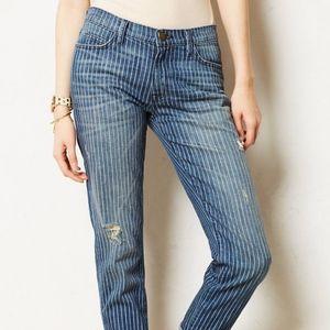 Current/Elliot 'The Fling' Loved Stripe Slim Jeans